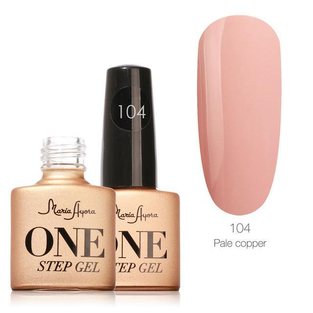 Maria Ayora One Step Nail Gel 7Ml Long-Lasting Led Uv Lamp Nail Gel Polish Lacquer Varnish No Base-Nails & Tools-Maria Makeup Store-104-EpicWorldStore.com