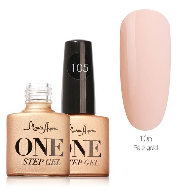 Maria Ayora One Step Nail Gel 7Ml Long-Lasting Led Uv Lamp Nail Gel Polish Lacquer Varnish No Base-Nails & Tools-Maria Makeup Store-105-EpicWorldStore.com