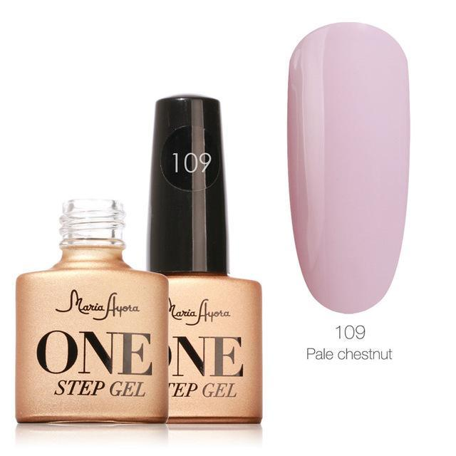 Maria Ayora One Step Nail Gel 7Ml Long-Lasting Led Uv Lamp Nail Gel Polish Lacquer Varnish No Base-Nails & Tools-Maria Makeup Store-109-EpicWorldStore.com