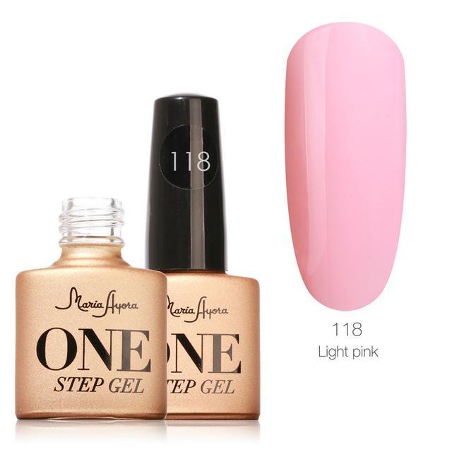Maria Ayora One Step Nail Gel 7Ml Long-Lasting Led Uv Lamp Nail Gel Polish Lacquer Varnish No Base-Nails & Tools-Maria Makeup Store-118-EpicWorldStore.com