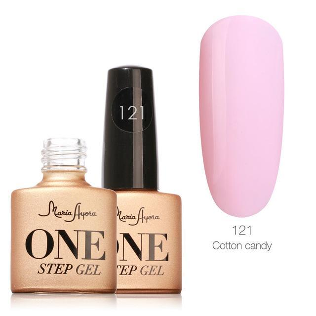 Maria Ayora One Step Nail Gel 7Ml Long-Lasting Led Uv Lamp Nail Gel Polish Lacquer Varnish No Base-Nails & Tools-Maria Makeup Store-121-EpicWorldStore.com