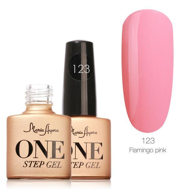 Maria Ayora One Step Nail Gel 7Ml Long-Lasting Led Uv Lamp Nail Gel Polish Lacquer Varnish No Base-Nails & Tools-Maria Makeup Store-123-EpicWorldStore.com