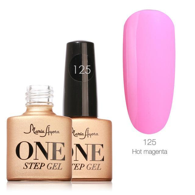 Maria Ayora One Step Nail Gel 7Ml Long-Lasting Led Uv Lamp Nail Gel Polish Lacquer Varnish No Base-Nails & Tools-Maria Makeup Store-125-EpicWorldStore.com