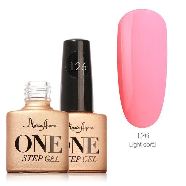 Maria Ayora One Step Nail Gel 7Ml Long-Lasting Led Uv Lamp Nail Gel Polish Lacquer Varnish No Base-Nails & Tools-Maria Makeup Store-126-EpicWorldStore.com