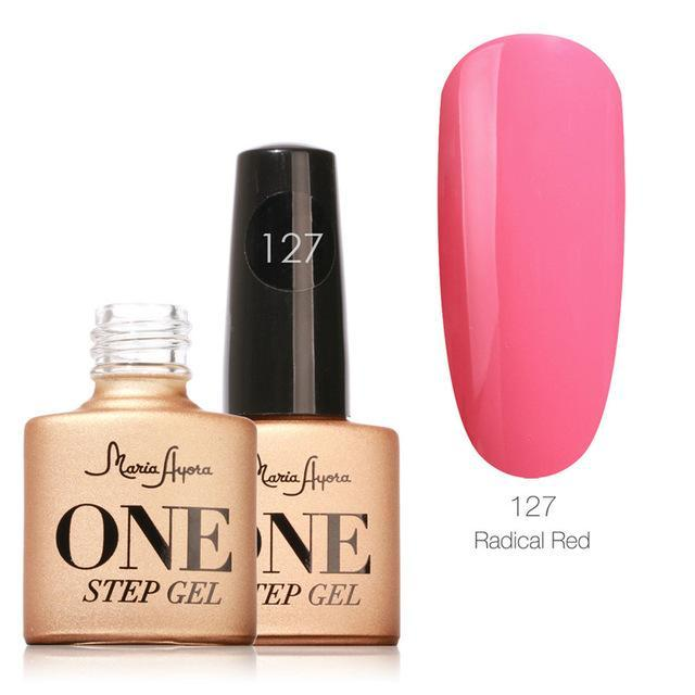 Maria Ayora One Step Nail Gel 7Ml Long-Lasting Led Uv Lamp Nail Gel Polish Lacquer Varnish No Base-Nails & Tools-Maria Makeup Store-127-EpicWorldStore.com
