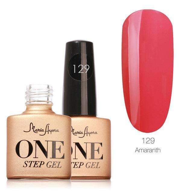 Maria Ayora One Step Nail Gel 7Ml Long-Lasting Led Uv Lamp Nail Gel Polish Lacquer Varnish No Base-Nails & Tools-Maria Makeup Store-129-EpicWorldStore.com