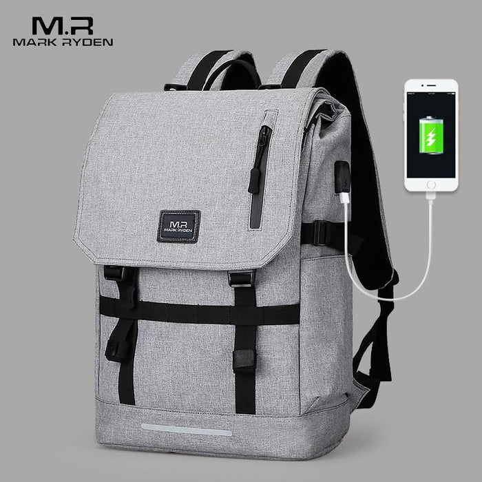 39ee6498f753 Mark Ryden Large Capacity 15.6 Inch Laptop Bag Man Usb Design Backpack Bag  Black Backpack Women