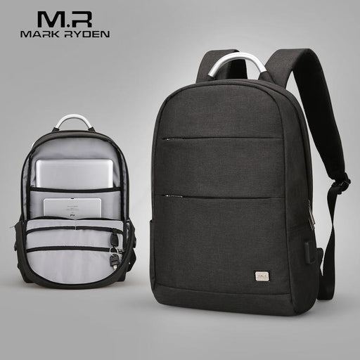 Mark Ryden Usb Recharging Anti-Thief Backpack Waterproof Two Size Portable Bag-MARK RYDEN Official Store-Black 1.0-EpicWorldStore.com
