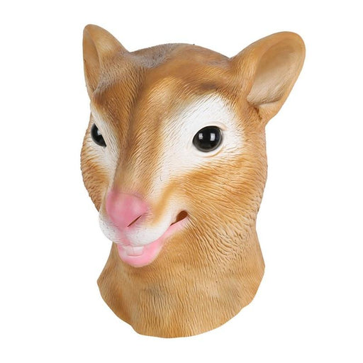 Mask Latex Deluxe Novelty Halloween Costume Party Squirrel Female Cow Animal Head Mask-Poetic -Lifestyle Store-Beige-EpicWorldStore.com