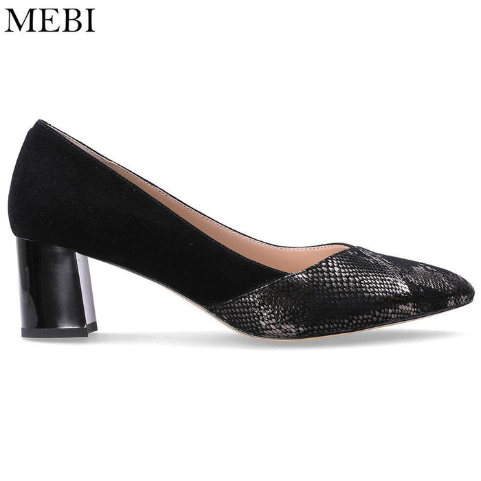 83514a58b869 Mebi Women Pumps Female Suede Sheepskin High Heels Genuine Leather Slip On  Women Dress Party-