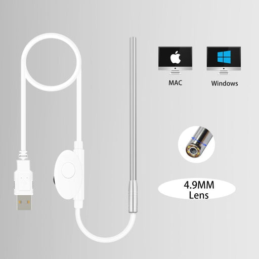 Medical Endoscope Camera 4.9Mm Lens Mini Waterproof Usb Endoscope Inspection Camera For Otg-Shenzhen LapSun Store-EpicWorldStore.com