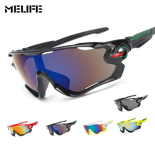 Melife Windproof Sport Eyewear Cycling Glasses Outdoor Motocross Sunglasses Snowboard Goggles-Shooting-MELIFE Official Store-Bright black-EpicWorldStore.com