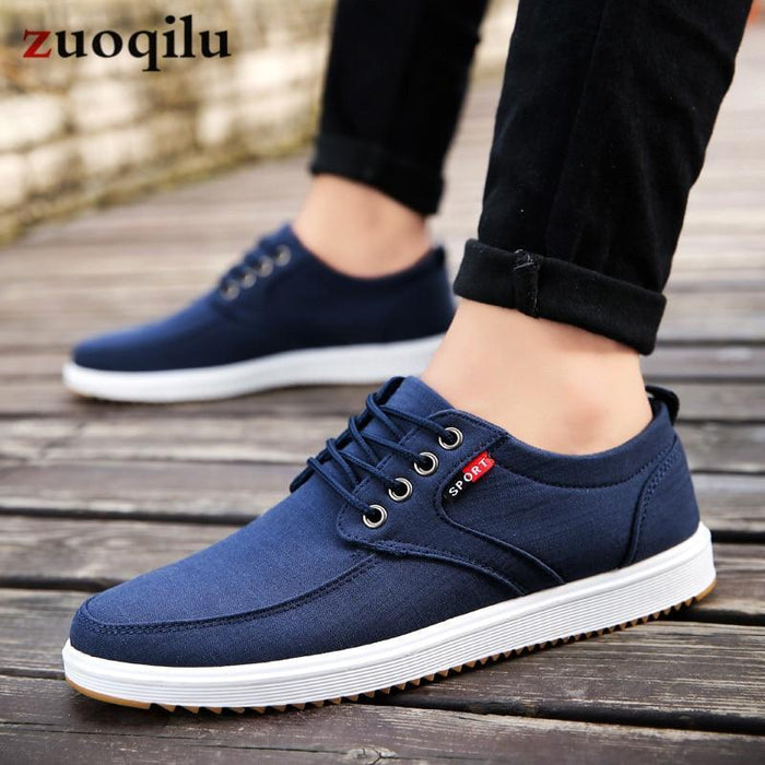 Men Casual Shoes Canvas Shoes Men Breathable Casual Canvas Men Shoes Walking Men Shoes-Men's Casual Shoes-Trendsetter Store-black-6-EpicWorldStore.com