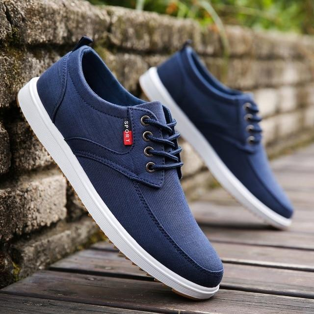 Men Casual Shoes Canvas Shoes Men Breathable Casual Canvas Men Shoes Walking Men Shoes-Men's Casual Shoes-Trendsetter Store-blue-6-EpicWorldStore.com