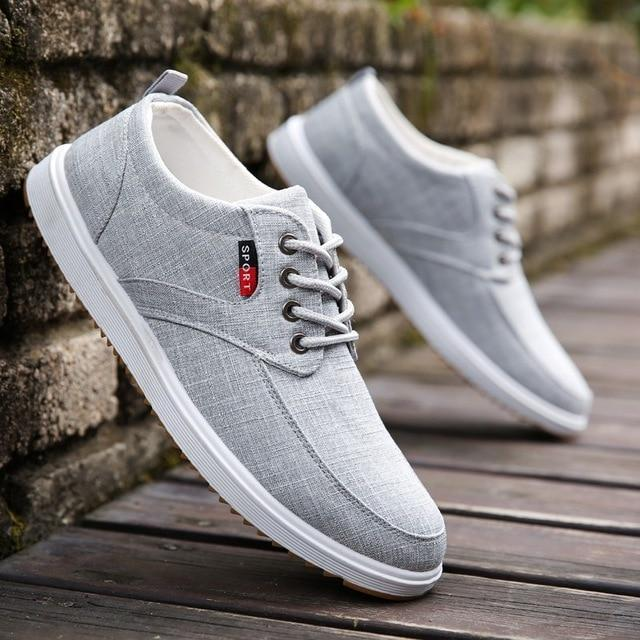 Men Casual Shoes Canvas Shoes Men Breathable Casual Canvas Men Shoes Walking Men Shoes-Men's Casual Shoes-Trendsetter Store-gray-6-EpicWorldStore.com