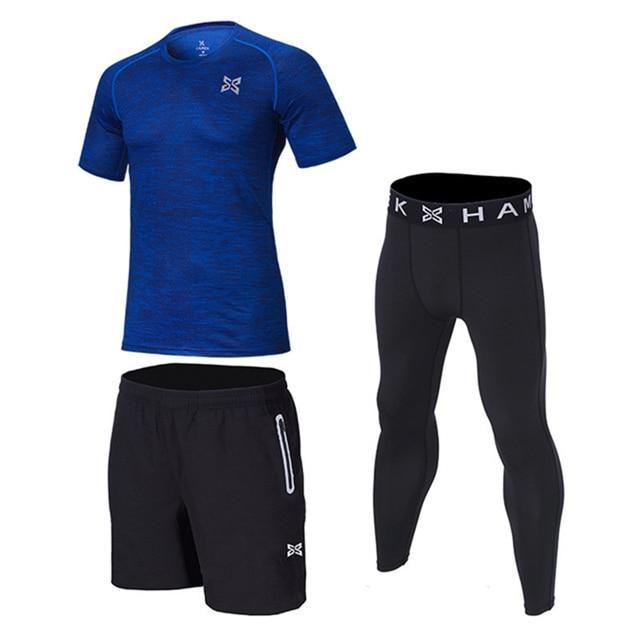 561901b4af Men Compression Running Sets Sports Clothes Shirts Shorts Socer Survetement Football  Pants Joggers-Mens Sets