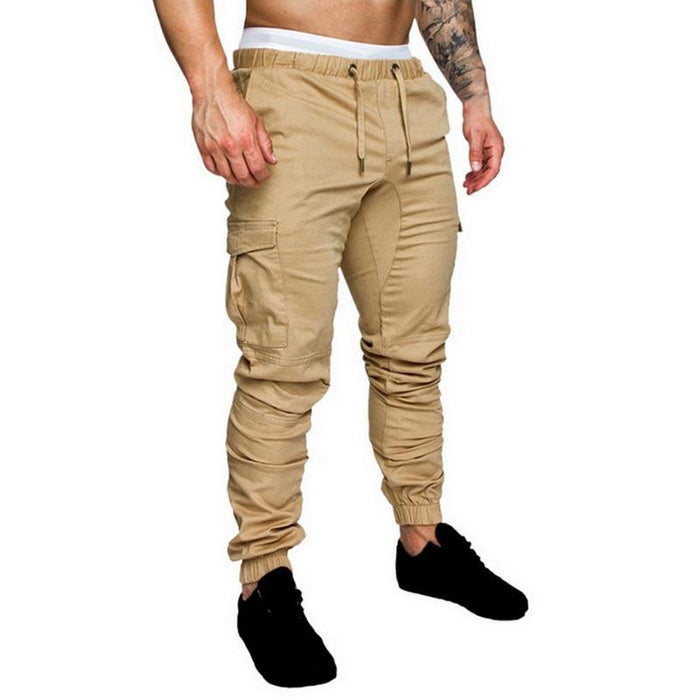 Men Joggers Casual Pockets Sweatpants Multicolor Pants Fashionable-Sweatpants-Shop5112075 Store-Black-M-EpicWorldStore.com