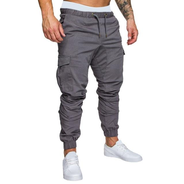 Men Joggers Casual Pockets Sweatpants Multicolor Pants Fashionable-Sweatpants-Shop5112075 Store-Gray-M-EpicWorldStore.com