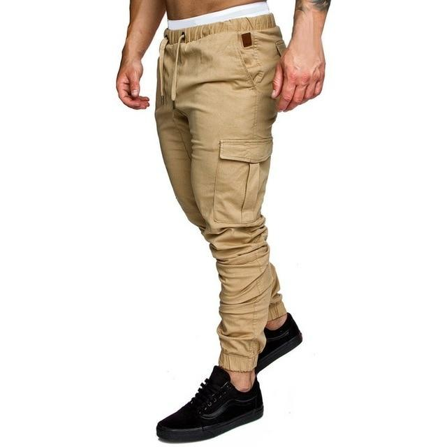 Men Joggers Casual Pockets Sweatpants Multicolor Pants Fashionable-Sweatpants-Shop5112075 Store-Khaki-M-EpicWorldStore.com