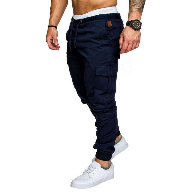 Men Joggers Casual Pockets Sweatpants Multicolor Pants Fashionable-Sweatpants-Shop5112075 Store-Navy-M-EpicWorldStore.com