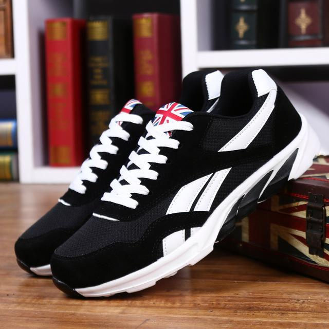 Men Running Shoes Spring Outdoor Sports Trainers Athletic Sneakers  Breathable Mesh Male Shoes-Sneakers- 68410d3ef4e3