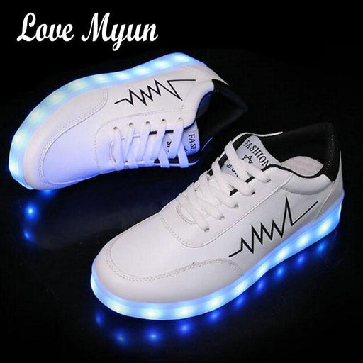 53a1c2c1241 Men sneakers adults neon basket Usb Colorful glowing led shoes male with  lights up luminous casual