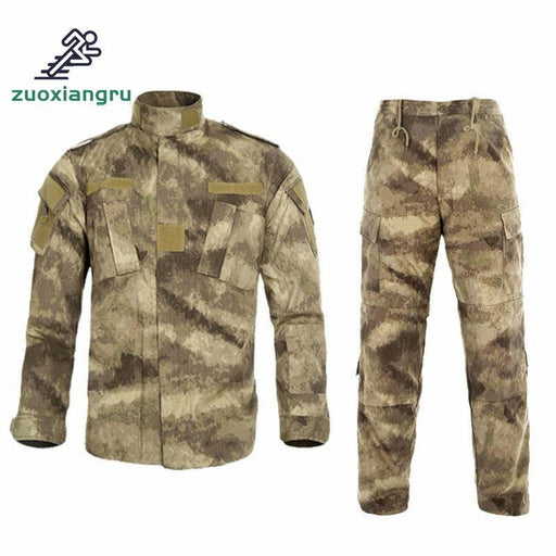 Mens Ghillie Suits Tactical Combat Uniform Camouflage Hunting Suit Wargame Paintball Army Cotton-Hiking Jackets-Aapplesport Store-1-S-EpicWorldStore.com