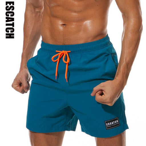 Mens Swimwear Swim Shorts Trunks Beach Board Shorts Swimming Short Pants Swimsuits Mens Running-Water Sports-ESCATCH Official Store-Black-M-EpicWorldStore.com