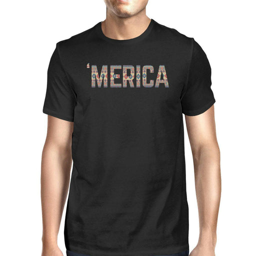 Merica Unique 4Th Of July Design T-Shirt For Men Tribal Pattern Tee-Apparel & Accessories-365 Printing-3X-LARGE-EpicWorldStore.com