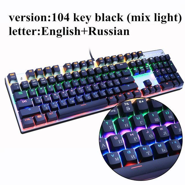 2bf44b1be9b Metoo Edition Mechanical Keyboard 87 Keys Blue Switch Gaming Keyboards For  Tablet Desktop Russian-Computer