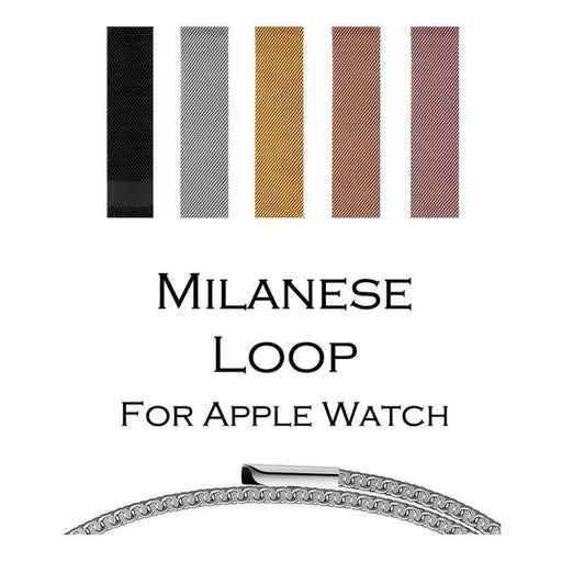Milanese Loop Band For Apple Watch 38/42Mm Series 1/2/3 Stainless Steel Strap Belt Metal-Watch Accessories-Fnzepile Store-Gold-For apple watch 38mm-EpicWorldStore.com