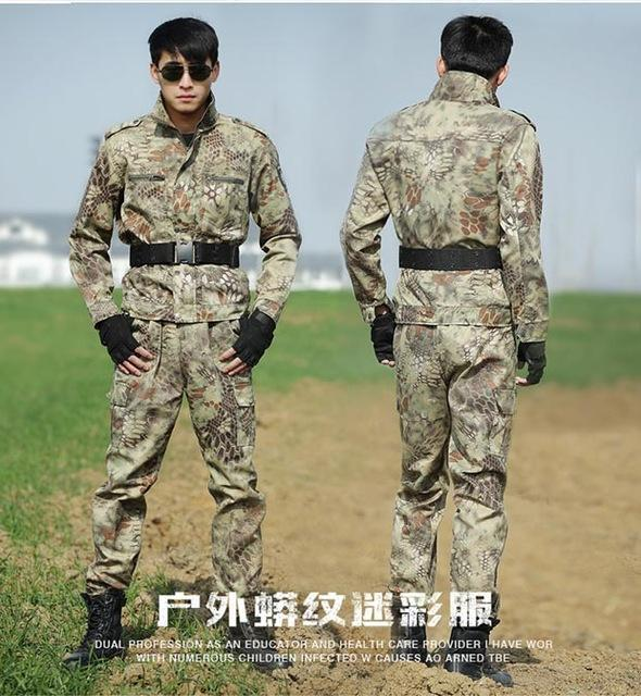 Military Uniform Black Hawk Python Uniforme Military Tactical Combat Jacket Cargo Pants Suit Cs-Work Wear & Uniforms-Outdoor Tactical Camouflage Store-Yellow Python-S-EpicWorldStore.com