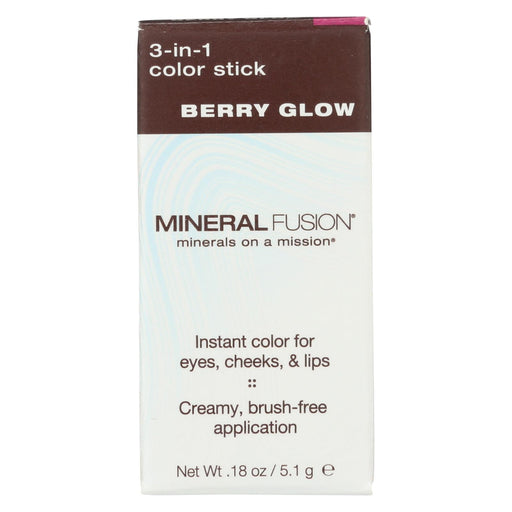 Mineral Fusion - 3-In-1 Color Stick - Berry Glow - 0.18 Oz.-Eco-Friendly Home & Grocery-Mineral Fusion-EpicWorldStore.com