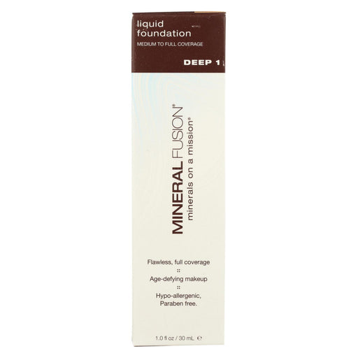 Mineral Fusion - Liquid Mineral Foundation - Deep 1 - 1 Oz.-Eco-Friendly Home & Grocery-Mineral Fusion-EpicWorldStore.com