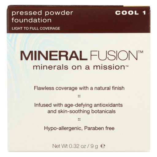 Mineral Fusion - Pressed Powder Foundation - Cool 1 - 0.32 Oz.-Eco-Friendly Home & Grocery-Mineral Fusion-EpicWorldStore.com