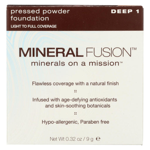 Mineral Fusion - Pressed Powder Foundation - Deep 1 - 0.32 Oz.-Eco-Friendly Home & Grocery-Mineral Fusion-EpicWorldStore.com