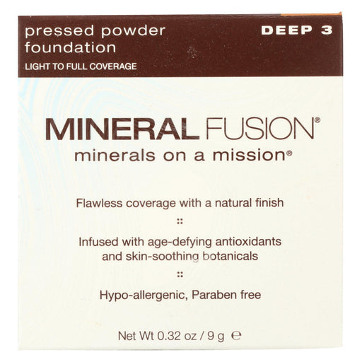 Mineral Fusion - Pressed Powder Foundation - Deep 3 - 0.32 Oz.-Eco-Friendly Home & Grocery-Mineral Fusion-EpicWorldStore.com