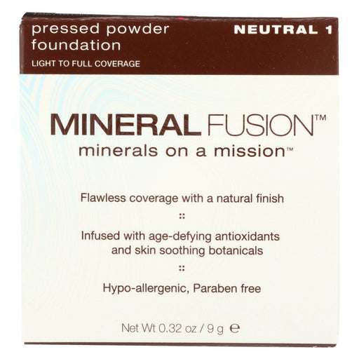 Mineral Fusion - Pressed Powder Foundation - Neutral 1 - 0.32 Oz.-Eco-Friendly Home & Grocery-Mineral Fusion-EpicWorldStore.com