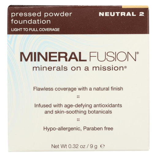 Mineral Fusion - Pressed Powder Foundation - Neutral 2 - 0.32 Oz.-Eco-Friendly Home & Grocery-Mineral Fusion-EpicWorldStore.com
