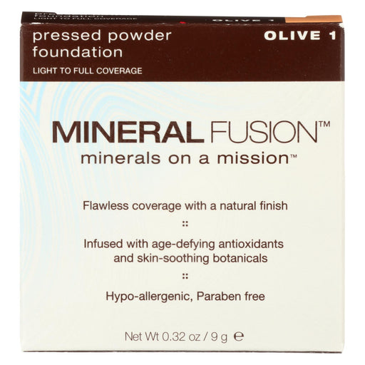 Mineral Fusion - Pressed Powder Foundation - Olive 1 - 0.32 Oz.-Eco-Friendly Home & Grocery-Mineral Fusion-EpicWorldStore.com