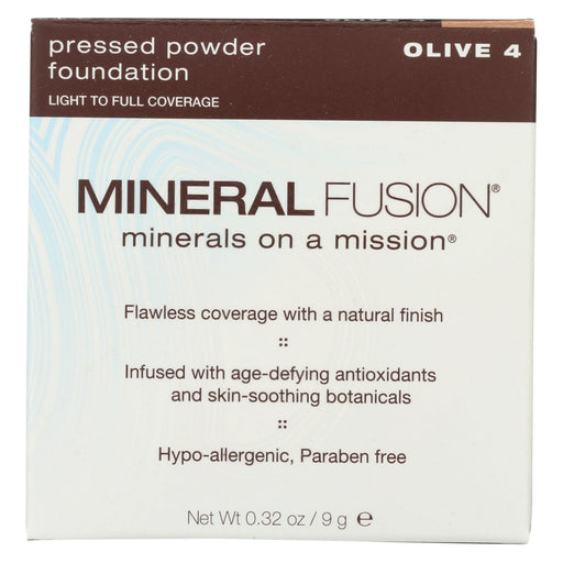 Mineral Fusion - Pressed Powder Foundation - Olive 4 - 0.32 Oz.-Eco-Friendly Home & Grocery-Mineral Fusion-EpicWorldStore.com