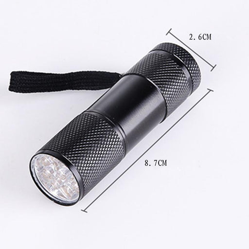 Mini 9Led Uv Flashlight Ultraviolet Led Flashlight Ultra Violet Invisible Ink Marker Detection Torch-Outdoor Lighting-POCKETMANlingling Store-EpicWorldStore.com
