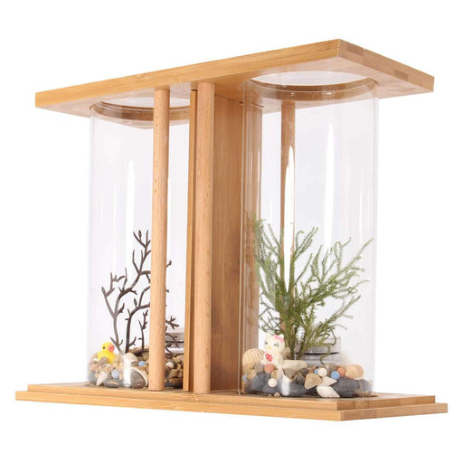 Mini Aquarium Bamboo Mini Clear Dual Glass Plant Fish Tank Led Lighting Goldfish Desktop Landscape-Home-sweethome-sale-EpicWorldStore.com