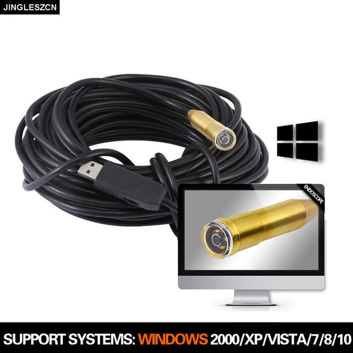 Mini Inspection Camera Usb Endoscope 14.5Mm 5M/10M/15M/20M/25M Ip67 Waterproof 4 Led Usb Borescope-jingleszcn factory Store-5m-EpicWorldStore.com