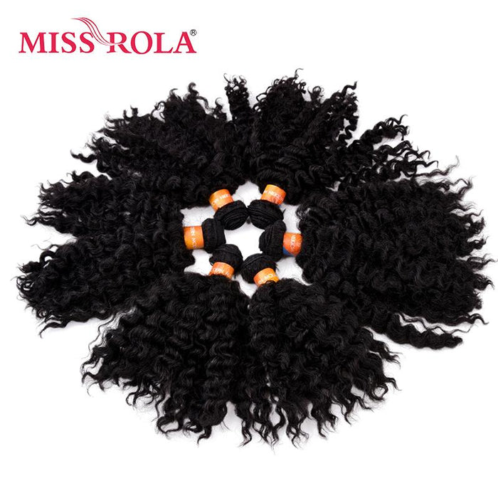 Miss Rola Short Wavy Synthetic Hair Weave 8inch Jazz Wave 6pclot