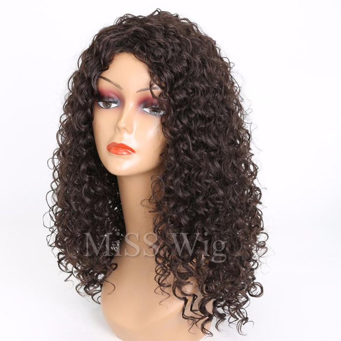 Miss Wig Long Black Kinky Curly Wig Synthetic Hair Wigs For Black