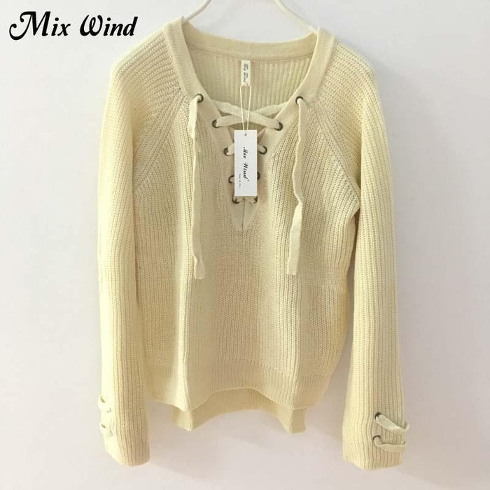 Mix Wind Knitted Winter Sweater Women Jumper Womens Novelties V Neck Pullover Stylish-Jackets & Coats-mix wind Official Store-Color one-S-EpicWorldStore.com