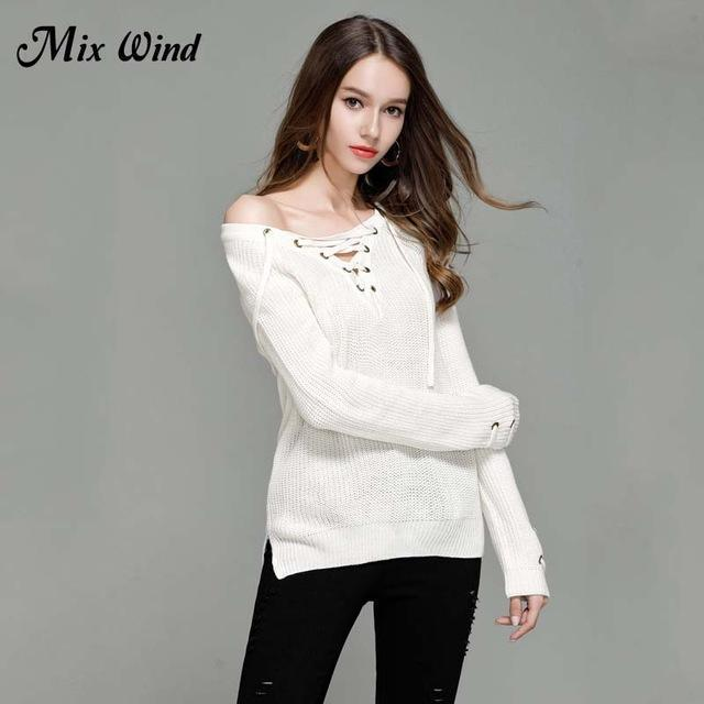 Mix Wind Knitted Winter Sweater Women Jumper Womens Novelties V Neck Pullover Stylish-Jackets & Coats-mix wind Official Store-Color six-S-EpicWorldStore.com