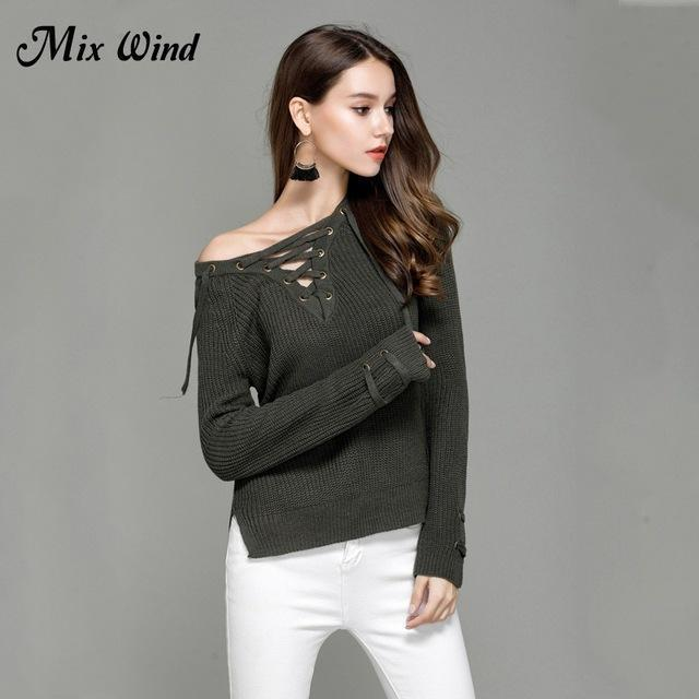 Mix Wind Knitted Winter Sweater Women Jumper Womens Novelties V Neck Pullover Stylish-Jackets & Coats-mix wind Official Store-Color three-S-EpicWorldStore.com