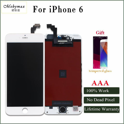 Mobymax Promotion All Test Work Lcd Touch Screen For Iphone 4 4S 5 5S 6 Display Digitizer Assembly-Mobile Phone Parts-YXKJ2017 Store-Black 4 with Gift-EpicWorldStore.com